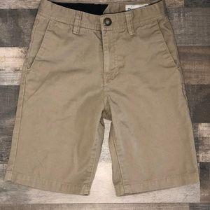 Volcom Big Boys Frickin Chino Shorts – Khaki